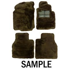 SET OF LAMBSWOOL RUGS (RHD Corniche & Bentley Continental from 1994 to 1999) (UB90732P)