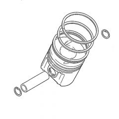 PISTON ASSEMBLY (8.7:1 Compression Ratio) (UT10385S)