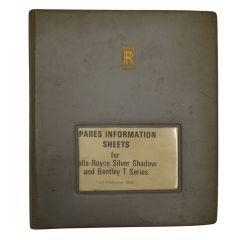 Spares Information Sheet TSD2860 (WS-098)
